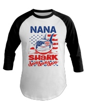 Nana Shark 4th of July Funny Gift Baseball Tee thumbnail