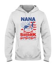 Nana Shark 4th of July Funny Gift Hooded Sweatshirt thumbnail