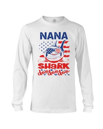 Nana Shark 4th of July Funny Gift