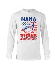 Nana Shark 4th of July Funny Gift Long Sleeve Tee thumbnail