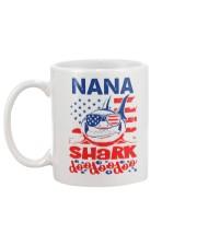 Nana Shark 4th of July Funny Gift Mug back