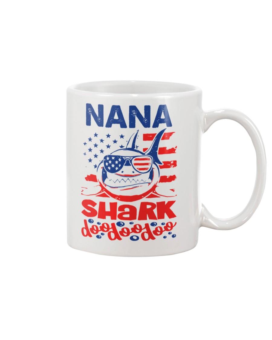 Nana Shark 4th of July Funny Gift Mug