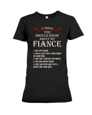 5 Things About My Fiance Premium Fit Ladies Tee front