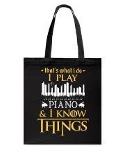 I Play Piano Tote Bag thumbnail