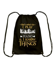 I Play Piano Drawstring Bag thumbnail