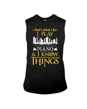 I Play Piano Sleeveless Tee thumbnail