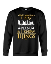 I Play Piano Crewneck Sweatshirt thumbnail