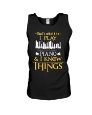 I Play Piano Unisex Tank thumbnail