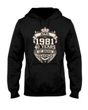 Awesome 1981 April Hooded Sweatshirt tile