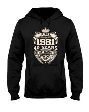 Awesome 1981 June Hooded Sweatshirt tile