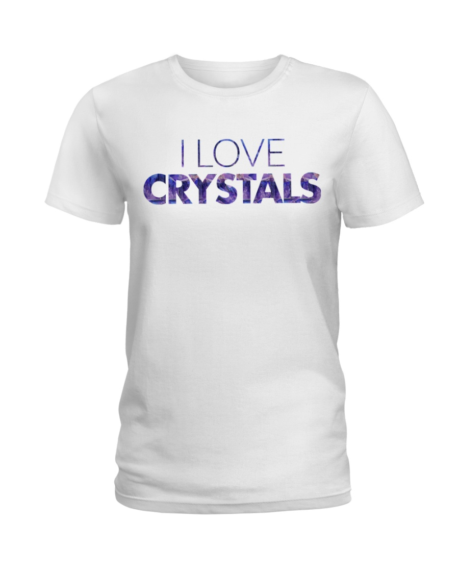 I Love Crystals V2 Ladies T-Shirt