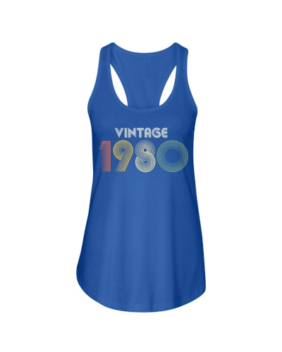 40th Birthday Vintage 1980 Gift Slim Fit T-Shirt