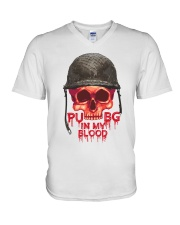 PUBG IN MY Blood V-Neck T-Shirt thumbnail