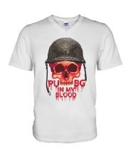 PUBG IN MY Blood V-Neck T-Shirt thumbnail