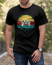 Dad By Day Gamer By Night Classic T-Shirt apparel-classic-tshirt-lifestyle-front-53