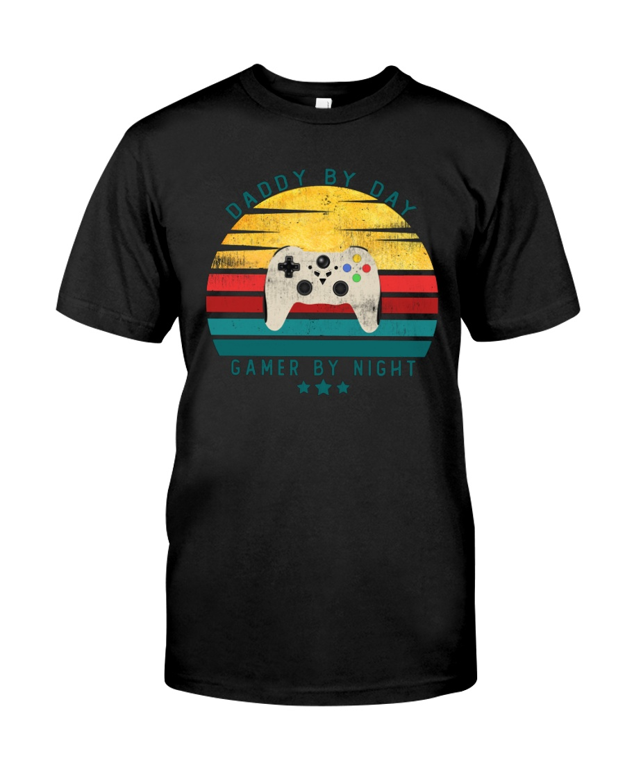Dad By Day Gamer By Night Classic T-Shirt