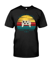 Dad By Day Gamer By Night Premium Fit Mens Tee thumbnail