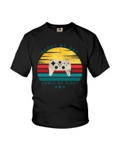 Dad By Day Gamer By Night Youth T-Shirt thumbnail