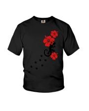 Gecko Lizard Hibiscus Flowers Aloha Surfing Funny  Youth T-Shirt thumbnail
