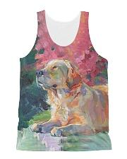 Perfect T shirt for Golden Retriever lovers All-over Unisex Tank thumbnail