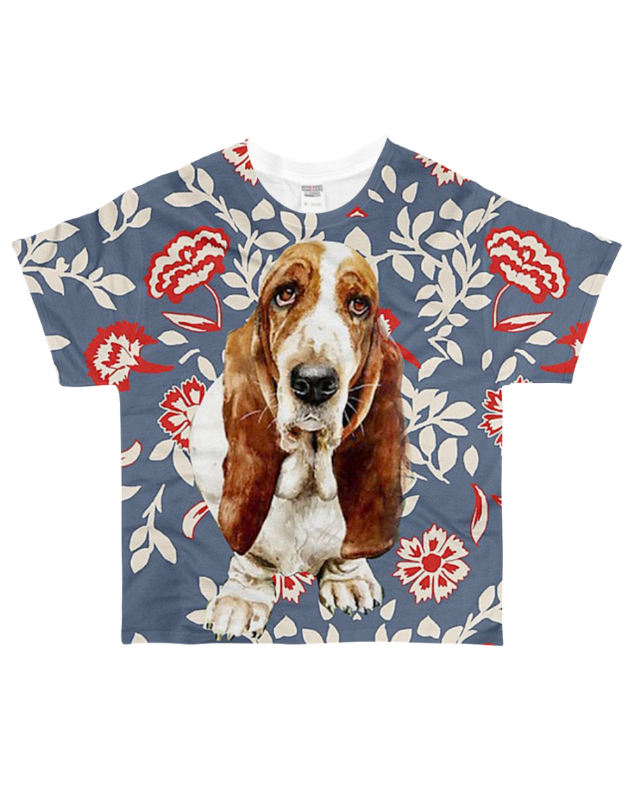 Perfect T shirt Basset Hound lovers All-over T-Shirt