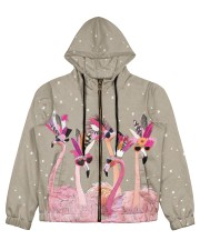 Perfect T shirt for Flamingo lovers Women's All Over Print Full Zip Hoodie thumbnail