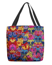 Cat Tee All-over Tote back