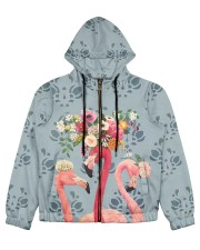 Perfect T shirt for Flamingo lovers Women's All Over Print Full Zip Hoodie tile