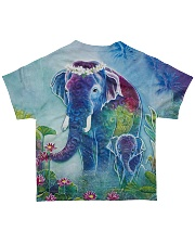 Blue Elephant Shirt All-over T-Shirt back