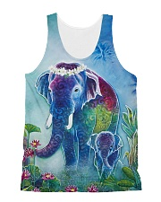 Blue Elephant Shirt All-over Unisex Tank thumbnail