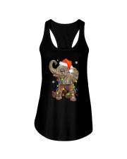 Elephant Christmas Ladies Flowy Tank thumbnail