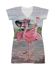 Perfect T shirt for Flamingo lovers All-Over Dress tile