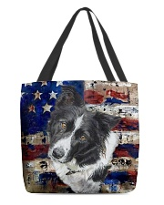 Border Collie Tee All-Over Tote tile