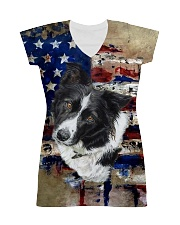 Border Collie Tee All-over Dress thumbnail