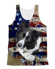 Border Collie Tee All-Over Unisex Tank tile