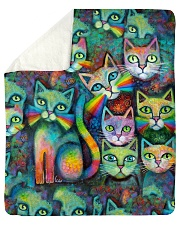 "Perfect Gift For Cat Lovers Sherpa Fleece Blanket - 50"" x 60"" thumbnail"