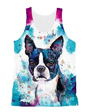 Boston Terrier Tee All-over Unisex Tank thumbnail