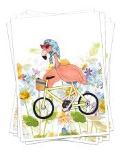 Perfect T shirt for Flamingo lovers Sticker - 6 pack (Vertical) thumbnail