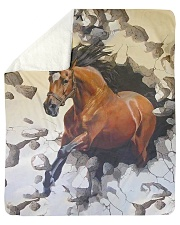 "Perfect Gift For Horse Lovers Sherpa Fleece Blanket - 50"" x 60"" thumbnail"
