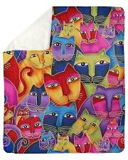 "Cat Tee Sherpa Fleece Blanket - 50"" x 60"" thumbnail"