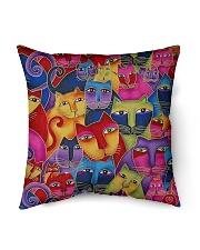 """Cat Tee Indoor Pillow - 16"""" x 16"""" thumbnail"""
