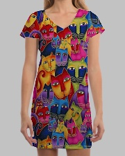 Cat Tee All-over Dress aos-dress-front-lifestyle-3