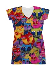 Cat Tee All-over Dress front