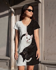 Yin Yang Cat All-over Dress aos-dress-front-lifestyle-1