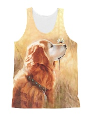 Perfect T shirt for Golden Retriever lovers All-over Unisex Tank thumbnail