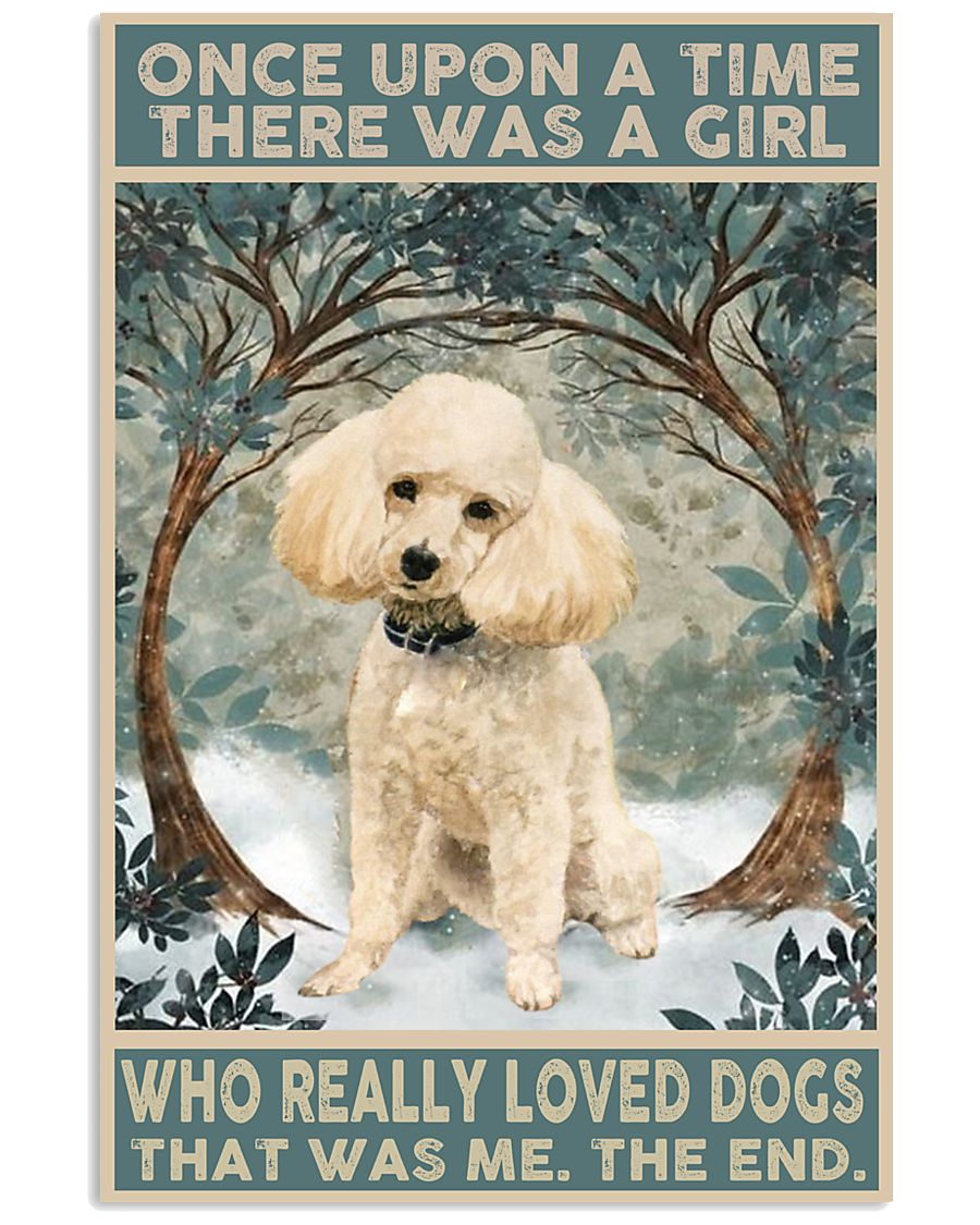 Perfect gift for Poodle lovers 11x17 Poster