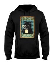 Cat I drink coffee I hate people Hooded Sweatshirt thumbnail