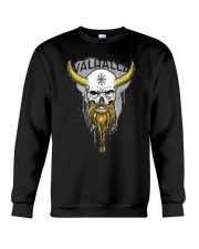 Viking Skull Helm of Awe for Nordic Warriors Crewneck Sweatshirt thumbnail