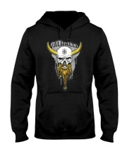Viking Skull Helm of Awe for Nordic Warriors Hooded Sweatshirt thumbnail