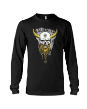 Viking Skull Helm of Awe for Nordic Warriors Long Sleeve Tee thumbnail